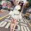 Seoul Secret เดรสผ้าคอตตอนสีขาว ทรงคล้องคอ แต่งระบาย thumbnail 2