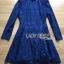 Lady Ribbon Dress เดรสผ้าลูกไม้สีนํ้าเงินเข้ม thumbnail 4