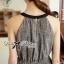 Lady Ribbon Maxi Dress เดรสยาวผ้าชีฟองผ่าข้าง ขายพร้อมเข็มขัด thumbnail 7