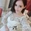 Lady Ribbon Elegant Crystal Embellished Insert Lace Dress thumbnail 7