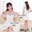Lady Sweet Mini Dress เดรสตัดต่อลูกไม้ผ้าแก้วออแกนซ่า ลายดอกไม้ thumbnail 6
