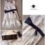 Lady Ribbon Floral Lace Dress เดรสลูกไม้ ดีเทลชายผ้าแก้ว thumbnail 9