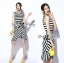 Lady Ribbon Lady Charlies Mix Striped Monochrome Dress thumbnail 2