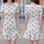 Lady Ribbon Mini Dress เดรสพิมพ์ลาย แต่งระบายชายกระโปรง thumbnail 7