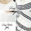 Lady Ribbon Stripe Mini Dress มินิเดรสลายขวางขาว-ดำ thumbnail 9
