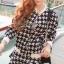 Houndstooth Millie Set Outer Skirt by Seoul Secret thumbnail 1