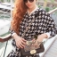 Houndstooth Millie Set Outer Skirt by Seoul Secret thumbnail 3