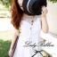 Lady Sweet Mini Dress เดรสตัดต่อลูกไม้ผ้าแก้วออแกนซ่า ลายดอกไม้ thumbnail 2