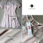 Lady Sweet Mini Dress เดรสตัดต่อลูกไม้ผ้าแก้วออแกนซ่า ลายดอกไม้ thumbnail 11