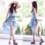 Liz Lisa Mermaid Maxi Dress เดรสทรงหางปลาสียีนส์ ผูกโบว์ไหล่ thumbnail 4