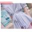 Lady Ribbon เสื้อจับจีบช่วงเอว ชายระบาย สีฟ้า/ชมพู thumbnail 8