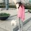 เสื้อยืดตัวยาว สีชมพูหวาน แต่งซิปด้านข้าง ชายเสื้อด้านหน้าสั้น ด้านหลังยาว thumbnail 6