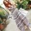 Lady Ribbon Floral Maxi Dress แมกซี่ชีฟองพิมพ์ลายลูกไม้ thumbnail 1