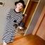 Seoul Secret Korea Chicly Stripe Maxi Knit thumbnail 5