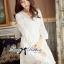 Lady Ribbon Classy Smocked Lace Dress thumbnail 1