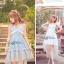 Liz Lisa Mermaid Maxi Dress เดรสทรงหางปลาสียีนส์ ผูกโบว์ไหล่ thumbnail 6