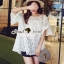 Seoul Secret Bell Sleeve Ivory Lace Net Tops on Long Blouse thumbnail 2