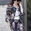 Seoul Secret Sakura Outer Set ชุดเสื้อคลุม กางเกงลายดอกซากุระ แถมเข็มกลัด thumbnail 1
