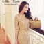Luxury Gold Embroidery Dress เดรสสุดหรู ผ้าลูกไม้ โทนสีทอง thumbnail 2