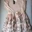 Lady Ribbon มินิเดรสแขนยาว กระโปรงดอกไม้ผ้าแก้ว 3D โทนสีนู้ด thumbnail 9