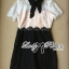 Lady Ribbon Collared Color-Block Lace Dress thumbnail 5