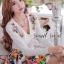 Seoul Secret เสื้อคาร์ดิแกน ผ้าไหมพรมประดับเพชรหลากสี thumbnail 7
