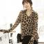 Animal Print Fashion เสื้อเชิ้ตผ้าชีฟอง พิมพ์ลาย Leopard thumbnail 1