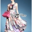Lady Ribbon Orchid Printed Satin Long Dress with Daisy Belt thumbnail 1