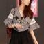 Seoul Secret เสื้อผ้าคอตตอนลายสก็อต แต่งผ้าลูกไม้และผ้าแก้ว thumbnail 3
