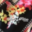 Lady Ribbon Orchid Printed Satin Long Dress with Daisy Belt thumbnail 10