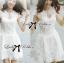 Luxury Lace Dress เดรสผ้าลูกไม้ ทรงคอปิด แต่งเพชรและมุก thumbnail 2