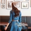 Lady Ribbon Denim Dress เดรสเชิ้ต ผ้ายีนส์ พร้อมเข็มขัด thumbnail 4