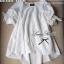 Lady Ribbon มินิเดรสผ้าลูกไม้สีขาว ฉลุลาย น่ารักหวานใส thumbnail 11