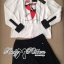 Lady Ribbon Preppy Print Back-Botton Top and Shorts Set thumbnail 7