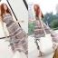 Lady Ribbon Floral Maxi Dress แมกซี่ชีฟองพิมพ์ลายลูกไม้ thumbnail 5