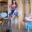 กางเกงกระโปรง ผ้าไหมชีฟองสีน้ำเงิน thumbnail 2