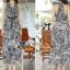 Lady Ribbon Maxi Dress เดรสยาวแขนกุด ผ้าชีฟองพิมพ์ลายผสม thumbnail 4