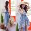Liz Lisa Mermaid Maxi Dress เดรสทรงหางปลาสียีนส์ ผูกโบว์ไหล่ thumbnail 1