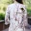 Seoul Secret Sakura Outer Set ชุดเสื้อคลุม กางเกงลายดอกซากุระ แถมเข็มกลัด thumbnail 9