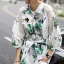Seoul Secret Spring green Leaf Mini Dress Shirt thumbnail 9