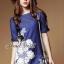 Seoul Secret Blue Denim Lace Furnish Dress thumbnail 1