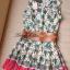 Lady Ribbon มินิเดรสพิมพ์ลายใบคริสต์มาส สีสดใส thumbnail 15
