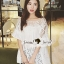 Seoul Secret Bell Sleeve Ivory Lace Net Tops on Long Blouse thumbnail 7