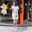IceVanilla Owl 3D Lace Stitching Dress thumbnail 5