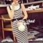 Seoul Secret Chic Stripy Bib Dress thumbnail 7