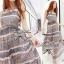 Lady Ribbon Floral Maxi Dress แมกซี่ชีฟองพิมพ์ลายลูกไม้ thumbnail 6