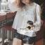 Seoul Secret Lovely Lace Chest Line Bolloon Blouse thumbnail 1