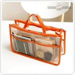 Clear dual bag in bag - Orange