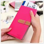 Passport case - Hot Pink
