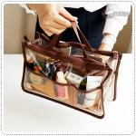 Clear dual bag in bag - Brown